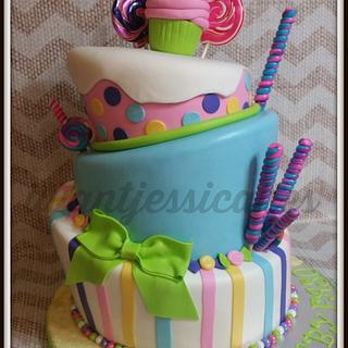 Baby shower, candy cake - Cake by Jessica Chase Avila