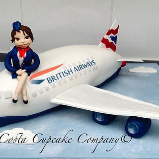 British airways plane cake