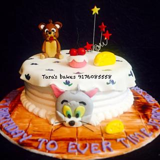 Tom and Jerry themed cake. - Cake by Tara