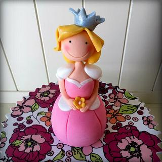 Princess cake topper (for CakeJournal.com)