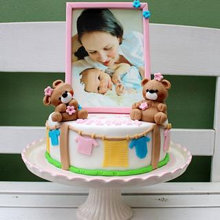 cute cake for mom and baby shower