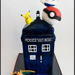 Dr Who Tardis/Pokemon Mash Up