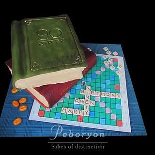 The Scrabble Cake - Cake by Peboryon