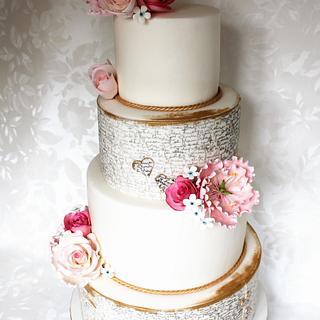 Pink and gold - Cake by Kateřina Lončáková