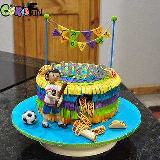 Taco Twosday Piñata Cake