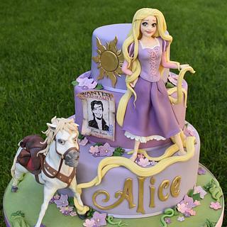 Tangled - Rapunzel cake