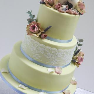 Two Little Mice Wedding Cake