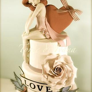 Pin Up vintage cake