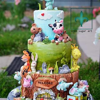 Animals Home Cake