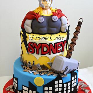 Thor Themed Cake