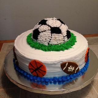 Sports theme cake - Cake by Aida Martinez