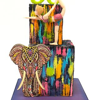 Full of colors cubes cake - Cake by Sweet Factory