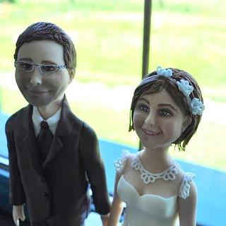 Woman and man from sugarpaste
