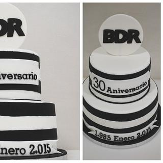 BDR Corporate cake - 30th anniversary