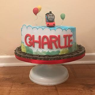 Gluten, nut, dairy free Thomas the Tank Cake