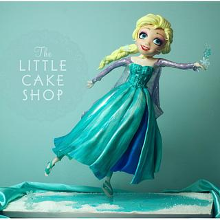 Ice Skating Princess Cake