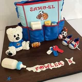 Diaper bag, Baby bag cake