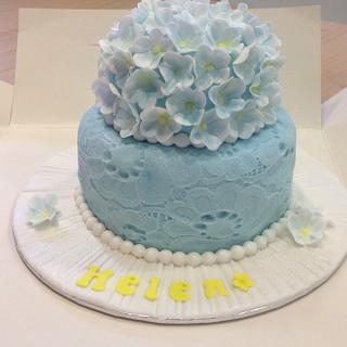 Blossom and lace cake - Cake by Mrs BonBon