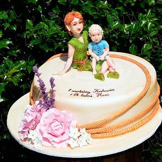 Granny and grandson - Cake by Anna Krawczyk-Mechocka