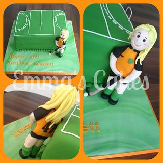 Hockey Cake - Cake by Emma's Cakes - Cakes for all occasions