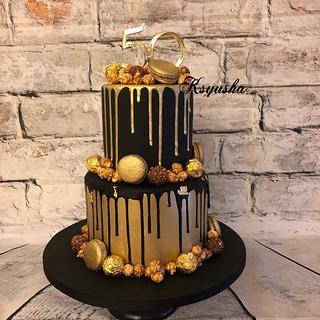 Black & Gold - Cake by Ksyusha