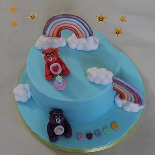 Care Bears :) hidden rainbow cake :P - Cake by Sue