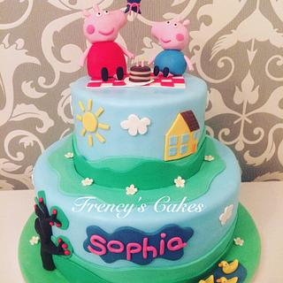 Peppa pig Cake - Cake by Frency's Cakes