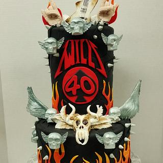 Heavy Metal cake for 40th Birthday