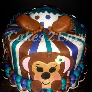 Baby Bottom Baby Shower Cake - Cake by cakes2envy