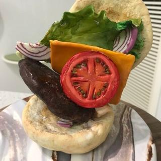 chestnut birthday cake - antigravity burger