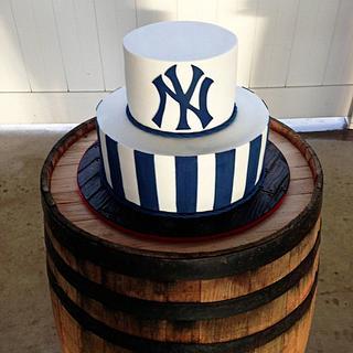Yankees Groom's Cake - Cake by Kendra