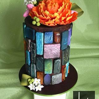 Spring, Stones and Chocolate Ganache - Cake by Kara's Couture Cakes
