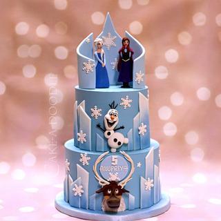 Frozen - Cake by Nimitha Moideen