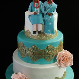Nigerian Engagement Cake
