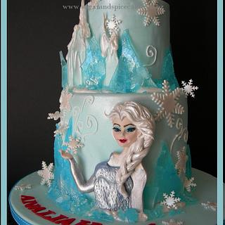 """Disney Frozen"" inspired cake  - Cake by Mel_SugarandSpiceCakes"