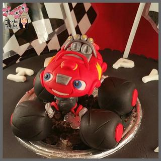 Monster Truck Madness! - Cake by Shanita