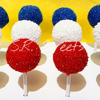 🎆4th of July cake pops🎆