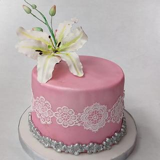 Lily flower cake