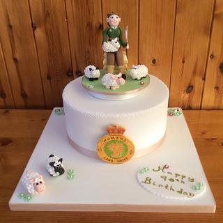 Women's Land army cake