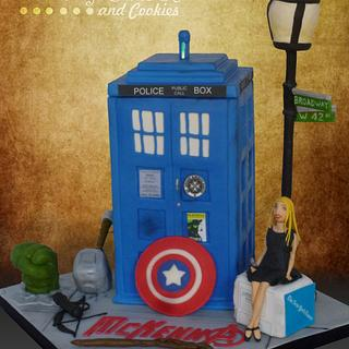 Dr. Who meets Avengers - Cake by TrudyCakes