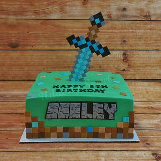 Minecraft 5th Birthday Cake