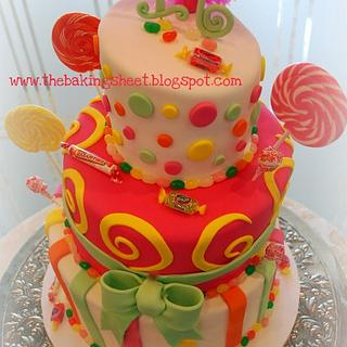 Candy Shoppe Topsy Turvy Cake!