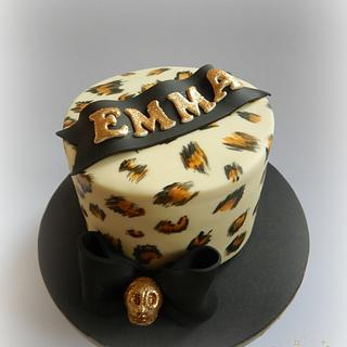Leopard Print Rockabilly Cake