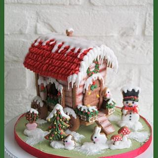Cookie Winter Gipsy Cart - Cake by Cake Garden
