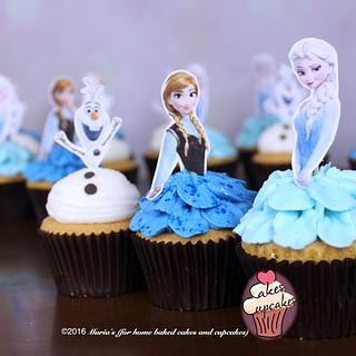 Frozen Cupcakes - Cake by Maria's