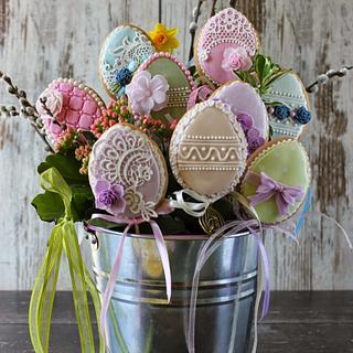 Easter eggs cookies - Cake by Bubolinkata