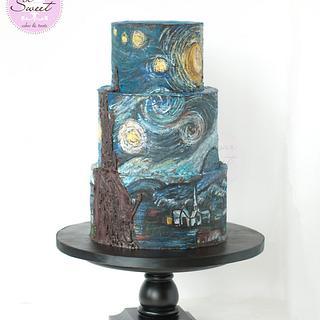 Starry Night Chocolate Cake
