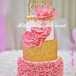 Ruffles and sequins cake