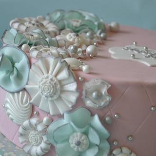 Little Fantasy Flowers goes Blingy!! - Cake by Neha