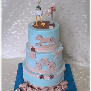 Christening cake for Mateo - Cake by Tortolandia